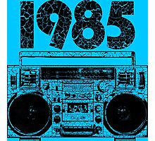 1985 Boombox Art Photographic Print