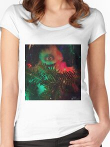 Bumble In Hiding Women's Fitted Scoop T-Shirt