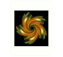 Ribbon Spin Art Print