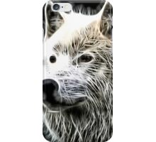 Wilde nature - white wolf iPhone Case/Skin