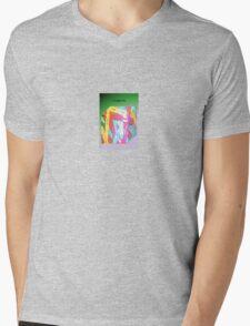 Cubed Plastic Mens V-Neck T-Shirt