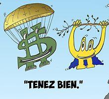 Buck et Euroman en caricature économique by Binary-Options