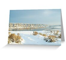 Crescent Bar in Winter Greeting Card