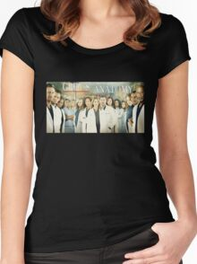 Grey's Anatomy-Cast Women's Fitted Scoop T-Shirt