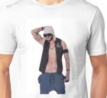 Muscular and sexy body of young sporty man Unisex T-Shirt