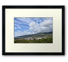 Cloudy hill Framed Print