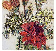 Flower Christmas card by Michele Meister