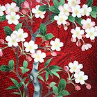 Cloisonne Flowering Blossom  by Robyn Williams