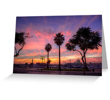 The Salmon Pink Sunset Greeting Card
