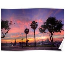 The Salmon Pink Sunset Poster