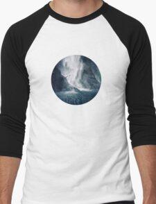 Bowen Falls, New Zealand Men's Baseball ¾ T-Shirt