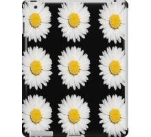 Top View of a White Daisy Isolated on Black iPad Case/Skin