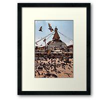 Flying Stupa Framed Print