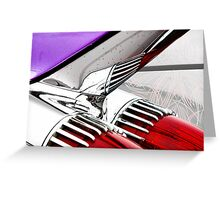 Cadillac Fins Wall Art Greeting Card