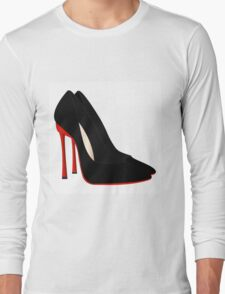 red heels black shoes Long Sleeve T-Shirt