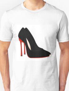 red heels black shoes Unisex T-Shirt