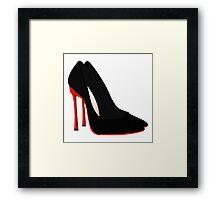 red heels black shoes Framed Print