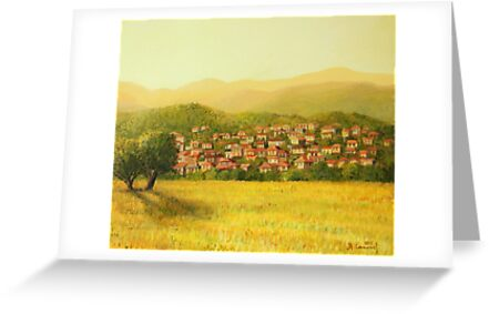 Golden Rural Scene by kirilart
