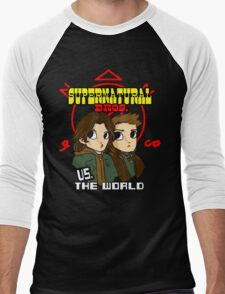 Supernatural Bros. Vs. The World!!! Men's Baseball ¾ T-Shirt