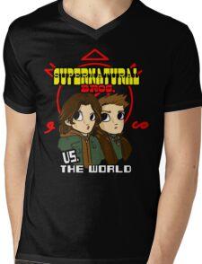 Supernatural Bros. Vs. The World!!! Mens V-Neck T-Shirt