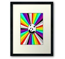 rainbow panda Framed Print