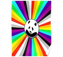 rainbow panda Poster