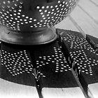 Polka Dot Colander by myraj