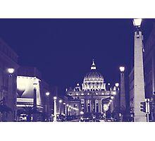 Rome II. Vatican by night.  Photographic Print