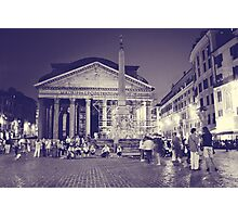 Rome VI. Pantheon by night.  Photographic Print