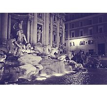 Rome IX. Trevi fountain by night.  Photographic Print