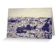 Rome X. Roman Forum.  Greeting Card