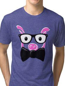 GEEK Pig Tri-blend T-Shirt