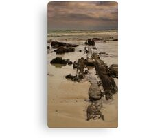 Line Of Stone Canvas Print