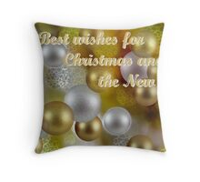 Best Wishes for Christmas and the New Year Throw Pillow