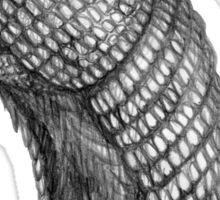 Pencil drawn armadillo Sticker