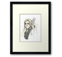 LOTR Portrait - Legolas Framed Print