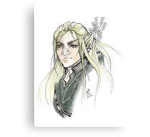 LOTR Portrait - Legolas Canvas Print