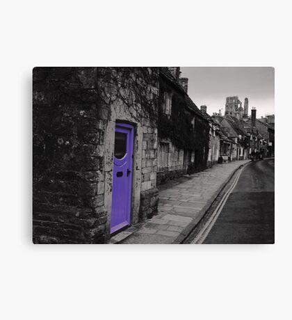 Purple door Canvas Print