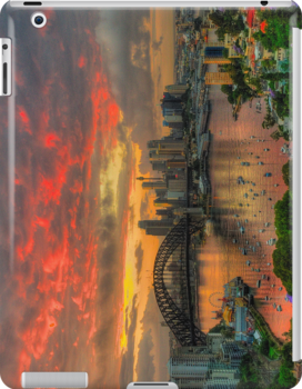 Oh What a Beautiful Morning - Moods Of A City,Sydney Australia - The HDR Experience (IPAD CASE) by Philip Johnson