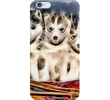 Wild nature - huskies iPhone Case/Skin