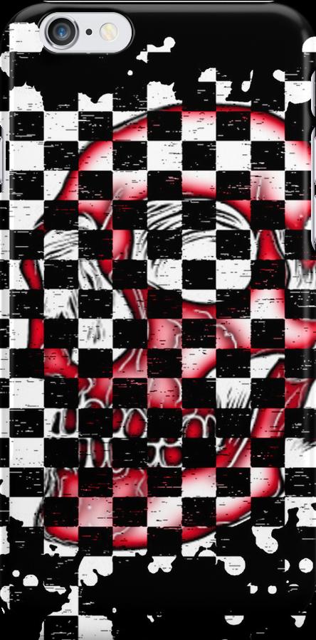 Skull checkered pattern 1 by MrBliss4