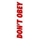 iPad Case - DONT OBEY by fenjay
