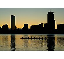 Rowers on the Charles Photographic Print