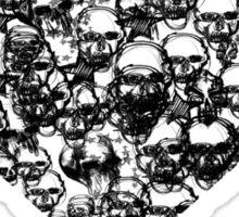 Black Skull Heart Sticker