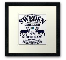 Swedish reindeer Framed Print