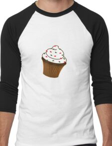 Christmas - cupcake Men's Baseball ¾ T-Shirt