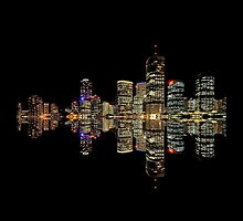 Brisbane at Night by Ommik