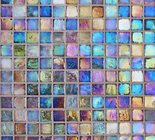 Iridescent glass mosaic blue/multi by knititude