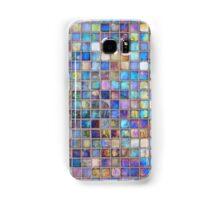 Iridescent glass mosaic blue/multi Samsung Galaxy Case/Skin
