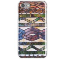 Knitted cables inspire stained glass iPhone Case/Skin